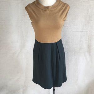 Tibi Wool Blend Dress 2/4 Retro Colorblocked Dress